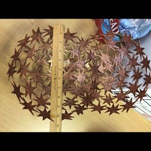 Tobin James starburst copper color bowl